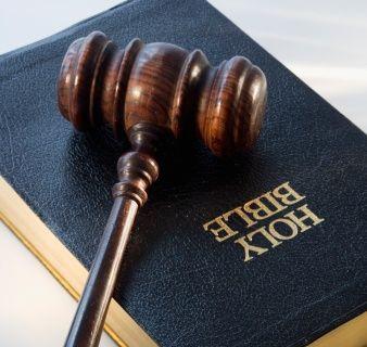 Bible and gavel